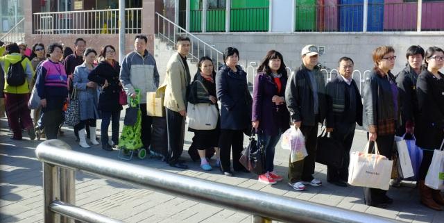 Bus Queue in Beijing
